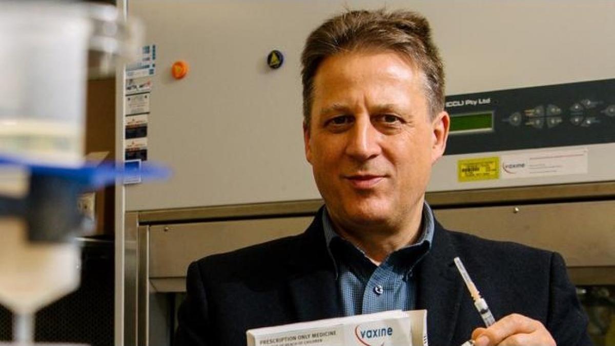 Giáo sư Nikolai Petrovsky của trường Đại học Flinder, thành viên nhóm nghiên cứu vaccine Covid-19 thử nghiệm Vaxin. Nguồn Morgan Sette