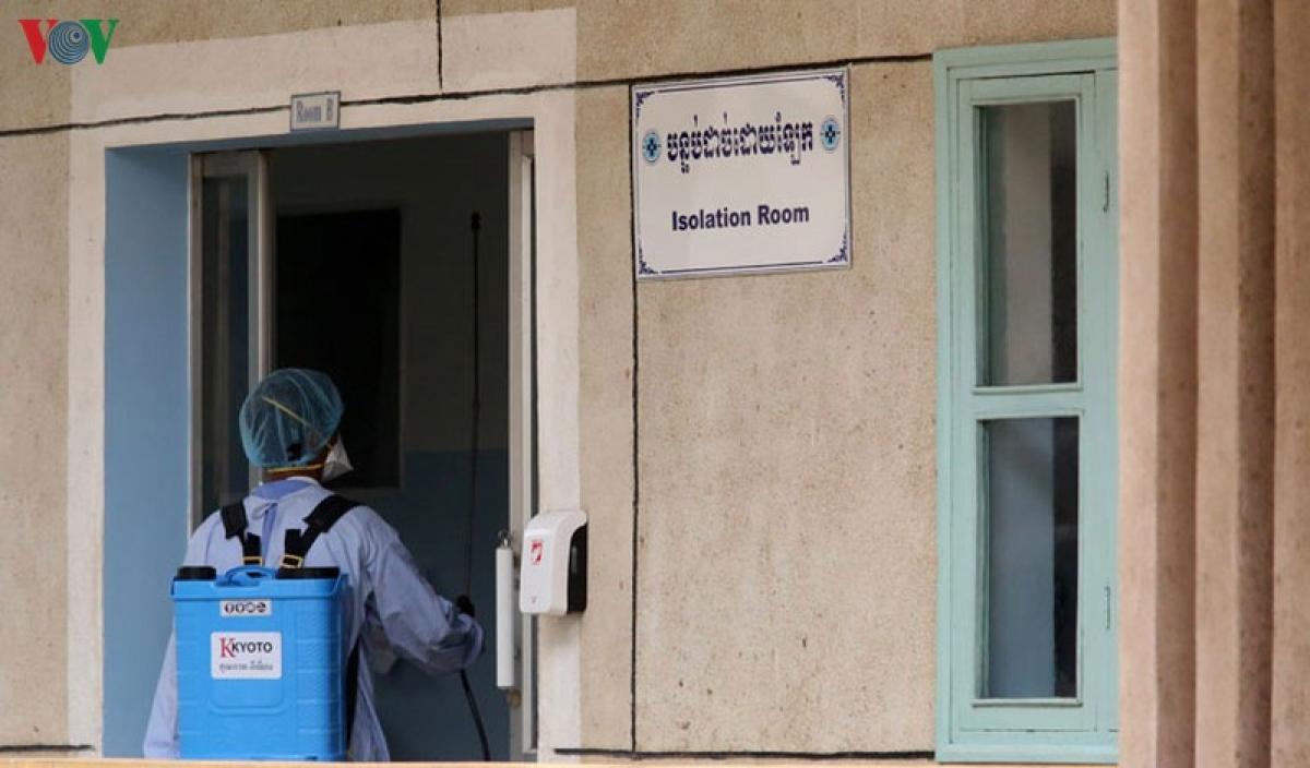 Phòng cách ly y tế tại Campuchia.
