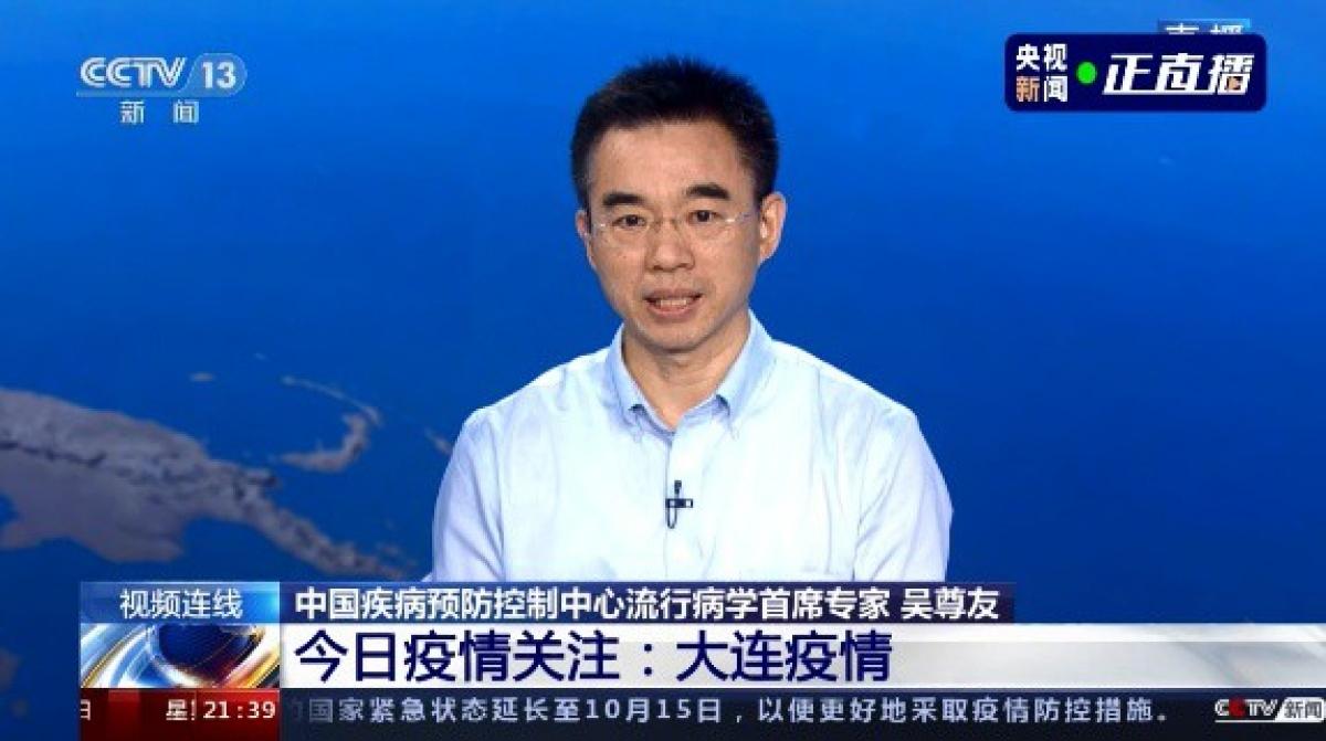Ông Ngô Tôn Hữu, chuyên gia dịch tễ học Trung Quốc. Ảnh: CCTV.