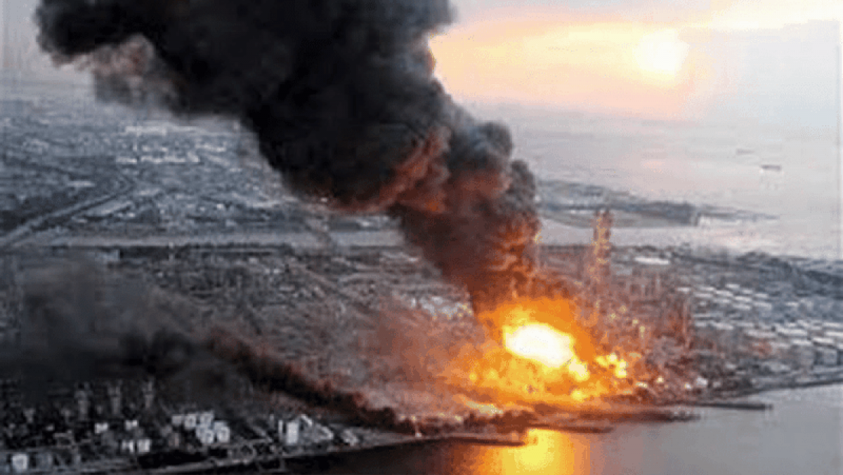 Một vụ nổ tại Fukushima. Ảnh minh họa: Humanities Lab.