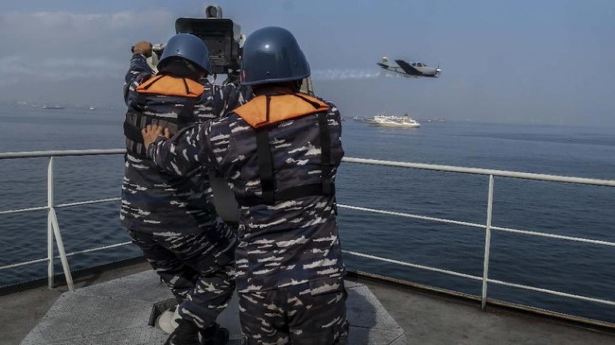 Indonesia tập trận trên biển. Nguồn: CNN Indonesia