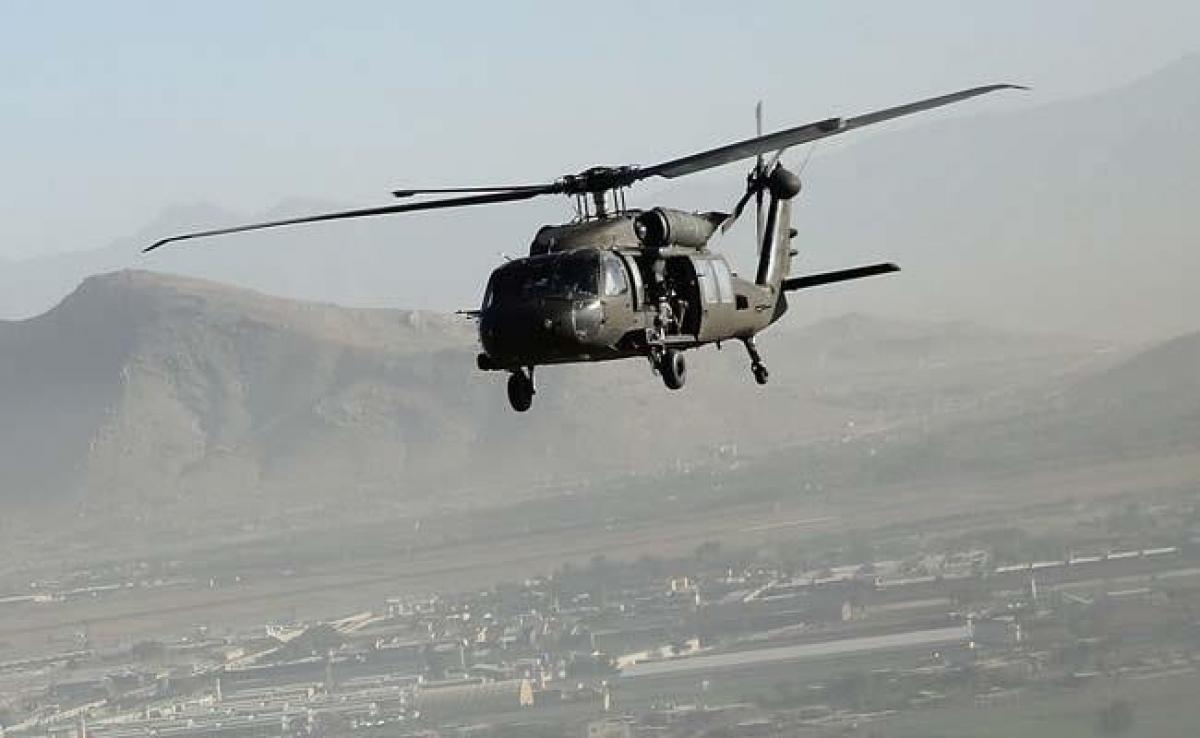 Máy bay trực thăng quân sự UH-60 Black Hawk. Ảnh minh họa: NDTV.