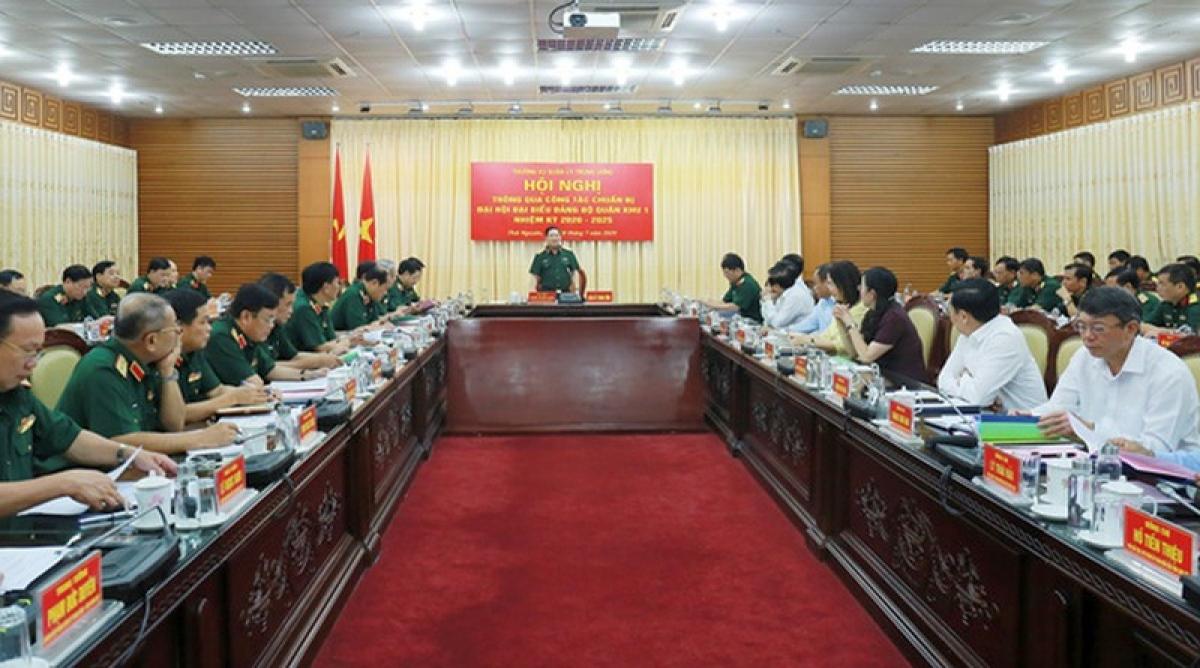 Đại tướng Ngô Xuân Lịch phát biểu tai Hội nghị.
