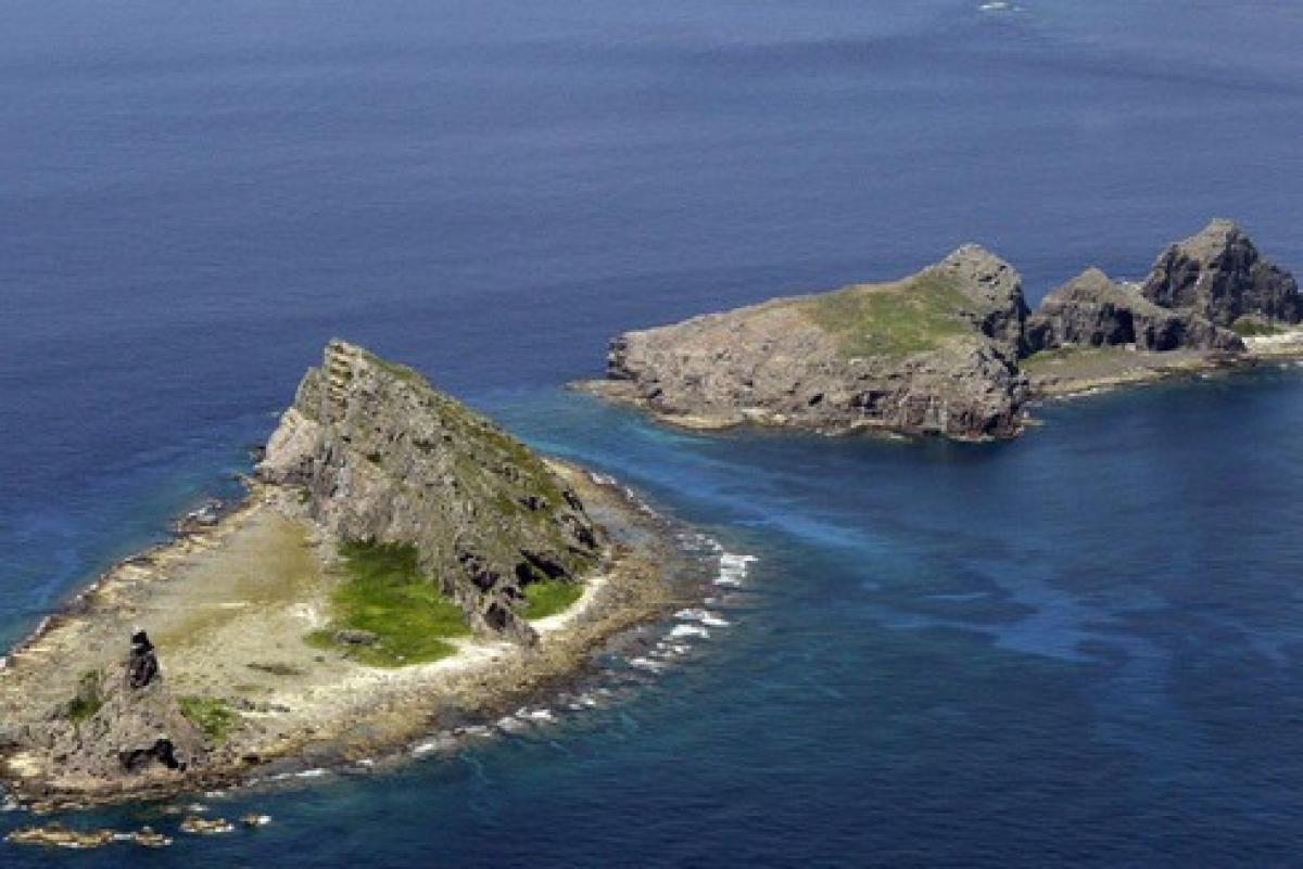 Quần đảo Senkaku/Điếu Ngư trên biển Hoa Đông là khu vực đang xảy ra tranh chấp chủ quyền giữa Nhật Bản và Trung Quốc. (Ảnh: Kyodo).