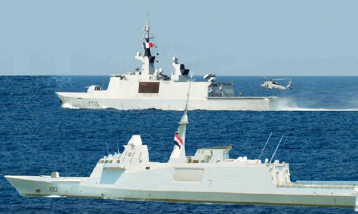 Hình ảnh về sức mạnh hải quân của quân đội Ai Cập. Ảnh: Al Ahram