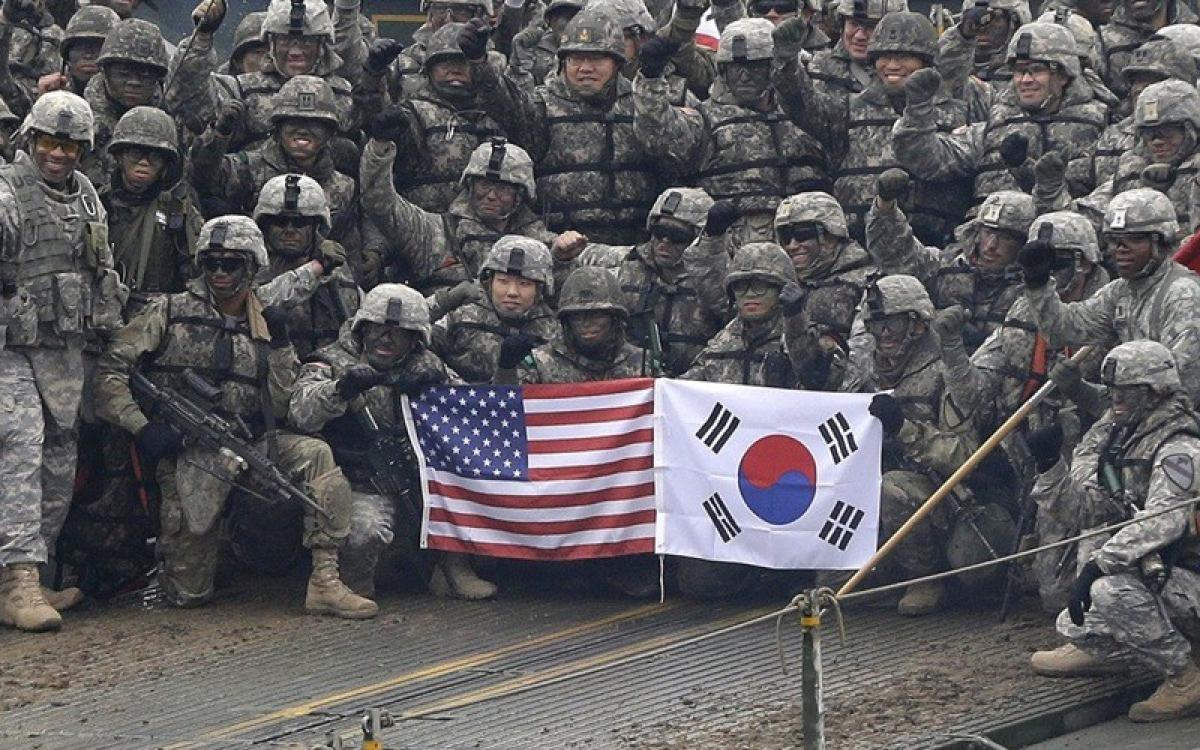 Quân đội Mỹ và Hàn Quốc. Ảnh: SCMP.