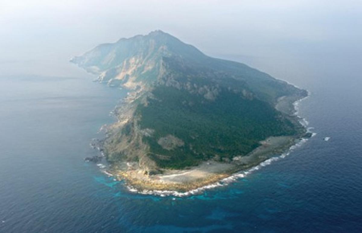 Một đảo thuộc thuộc quần đảo Senkaku/Điếu Ngư. Ảnh:  Ashahi Shimbun.
