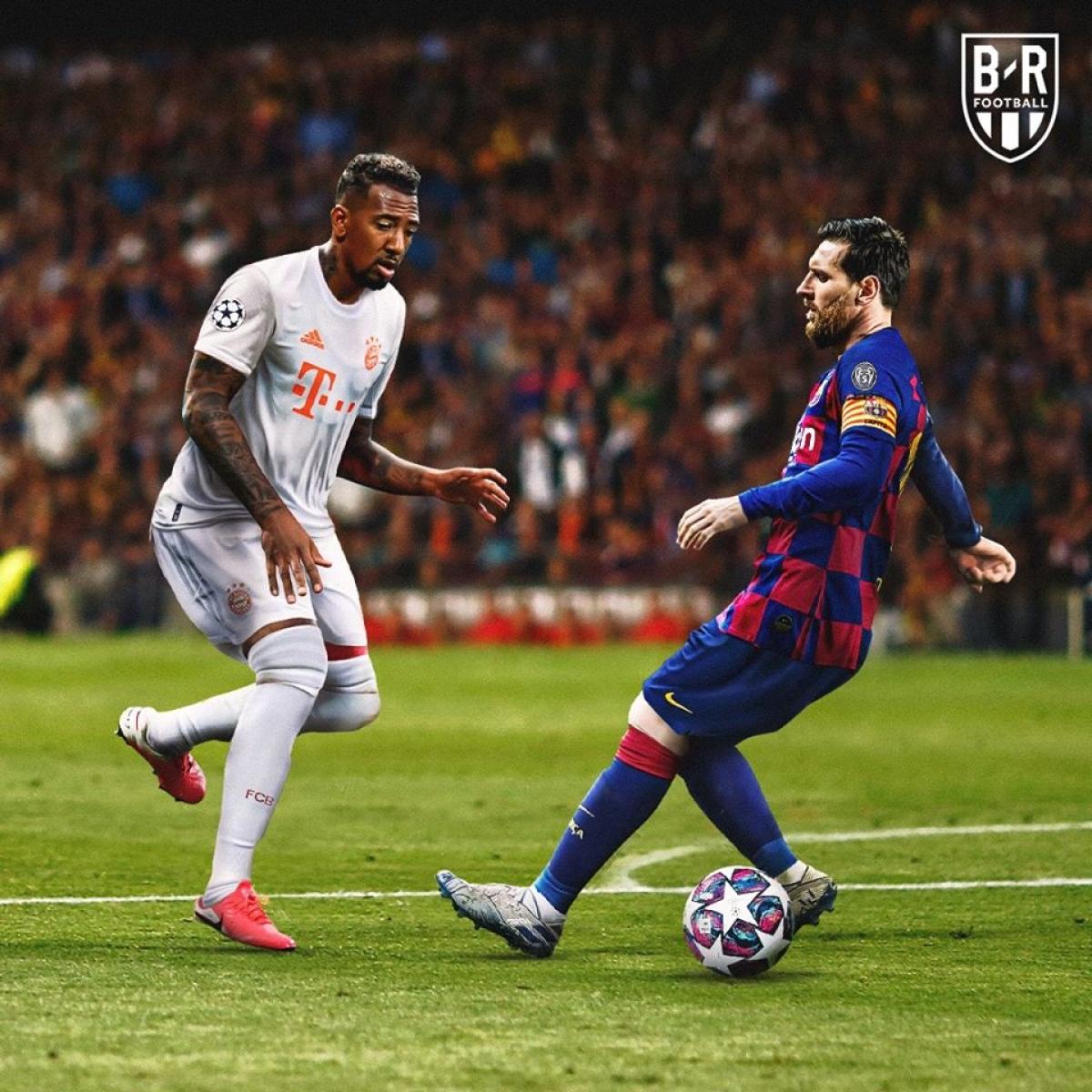 Jerome Boateng phục thù Lionel Messi. (Ảnh: Bleacher Reports)
