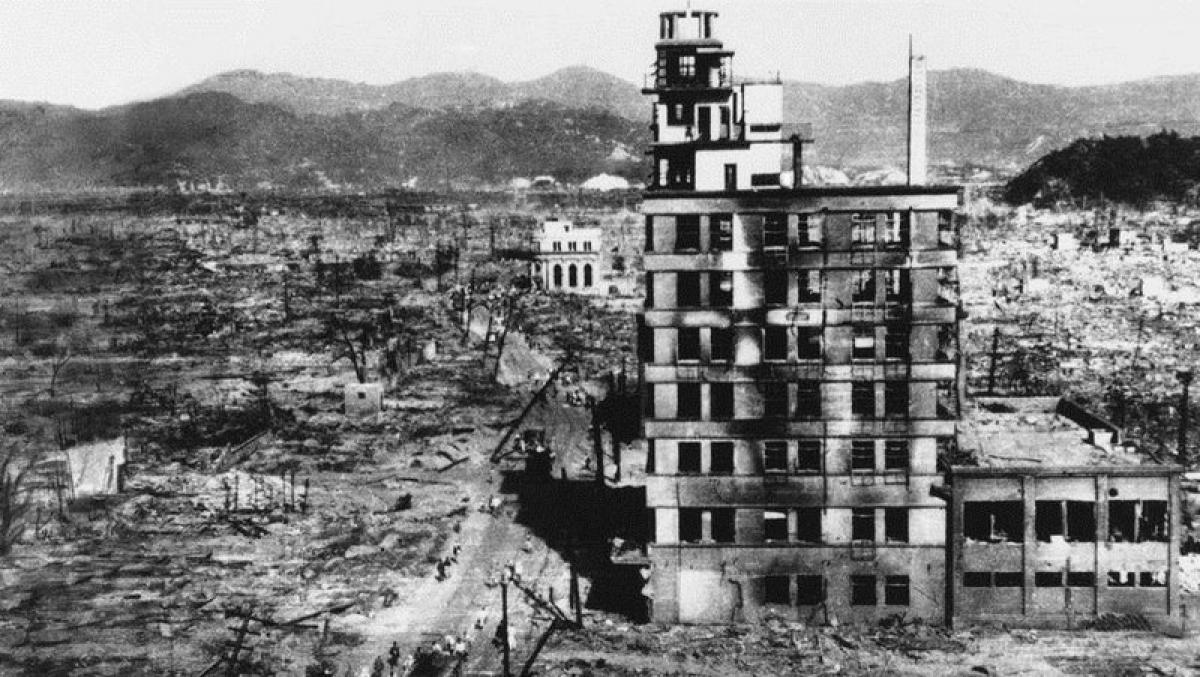 Thành phố Hiroshima bị tàn phá sau vụ tấn công; Nguồn: militaryarms.ru