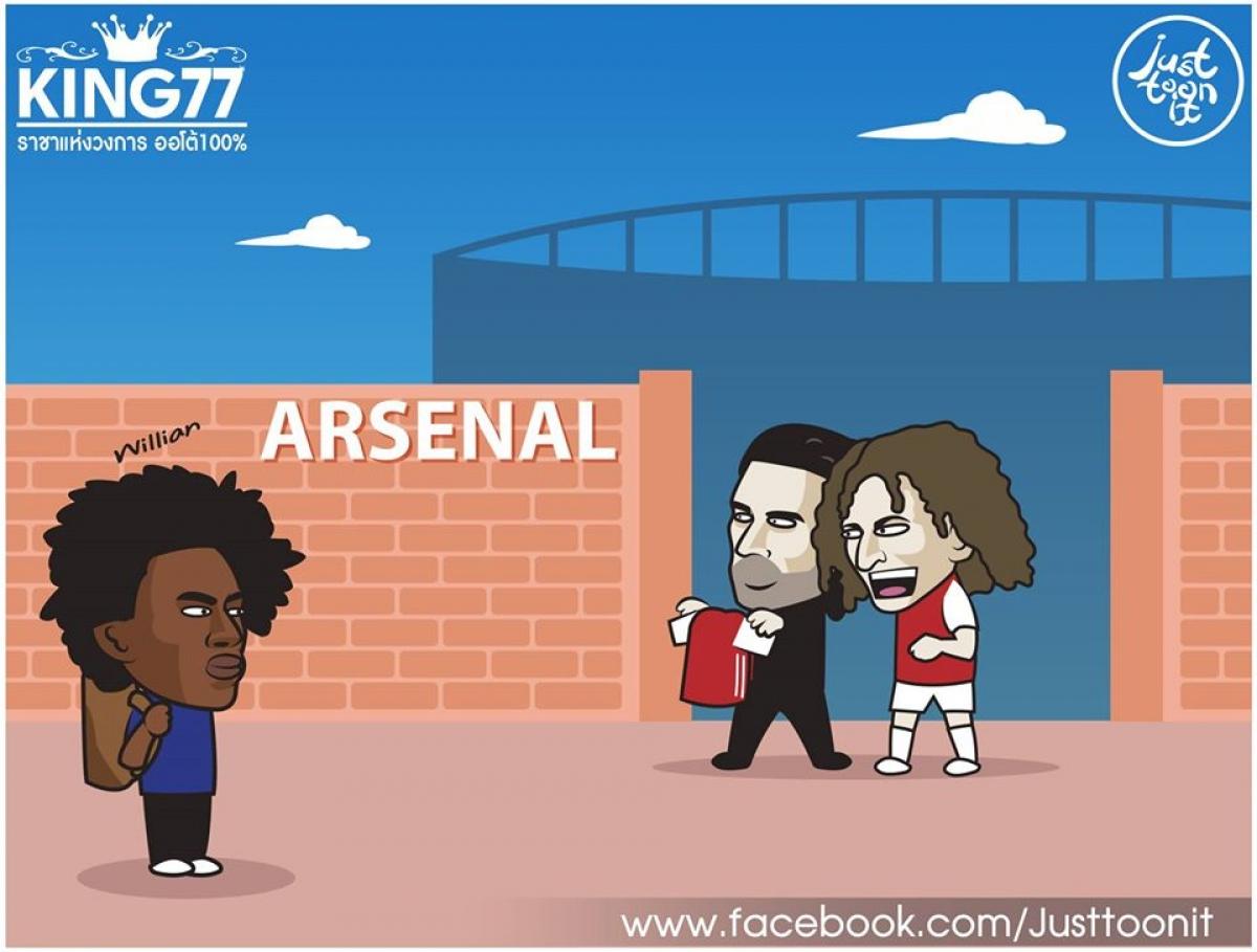 Willian trên đường đến Arsenal.