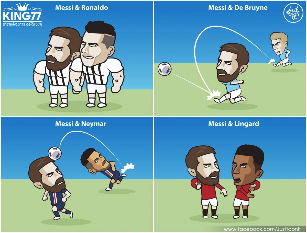 Đâu sẽ là điểm đến lý tưởng mới của Messi? (Ảnh: Just Toonit).