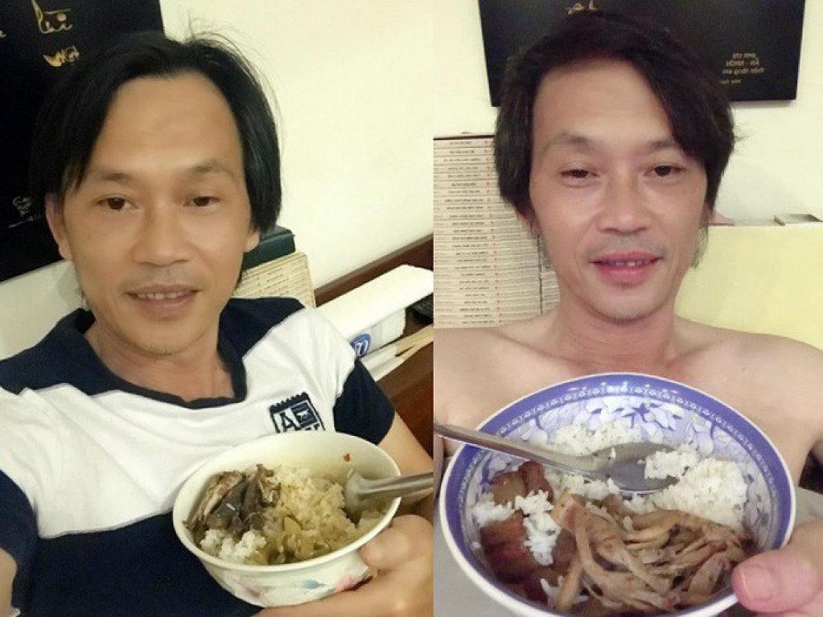 Dù là nghệ sĩ gạo cội nổi tiếng và giàu có, Hoài Linh vẫn luôn giữ lối sống bình dân, một phần thể hiện qua cách ăn uống đạm bạc của anh. (FBNV)