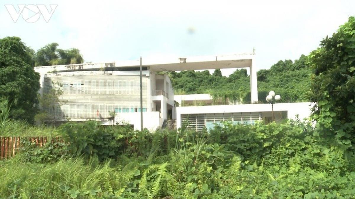 Cách đó không xa, nằm ngay điểm đầu đặt chân vào khu đô thị - hành chính mới, trên mặt đại lộ Trần Hưng Đạo, phường Bắc Cường, thành phố Lào Cai cũng có một công trình là trụ sở cơ quan bị bỏ hoang.