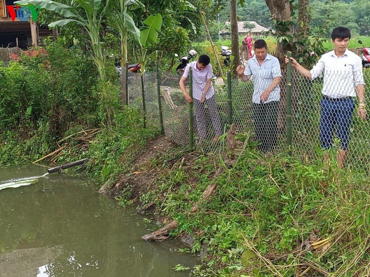 Tùy vào hoàn cảnh thực tế, nhà nào có điều kiện thì rào bằng lưới thép, dây thép gai, xây tường bao quanh.