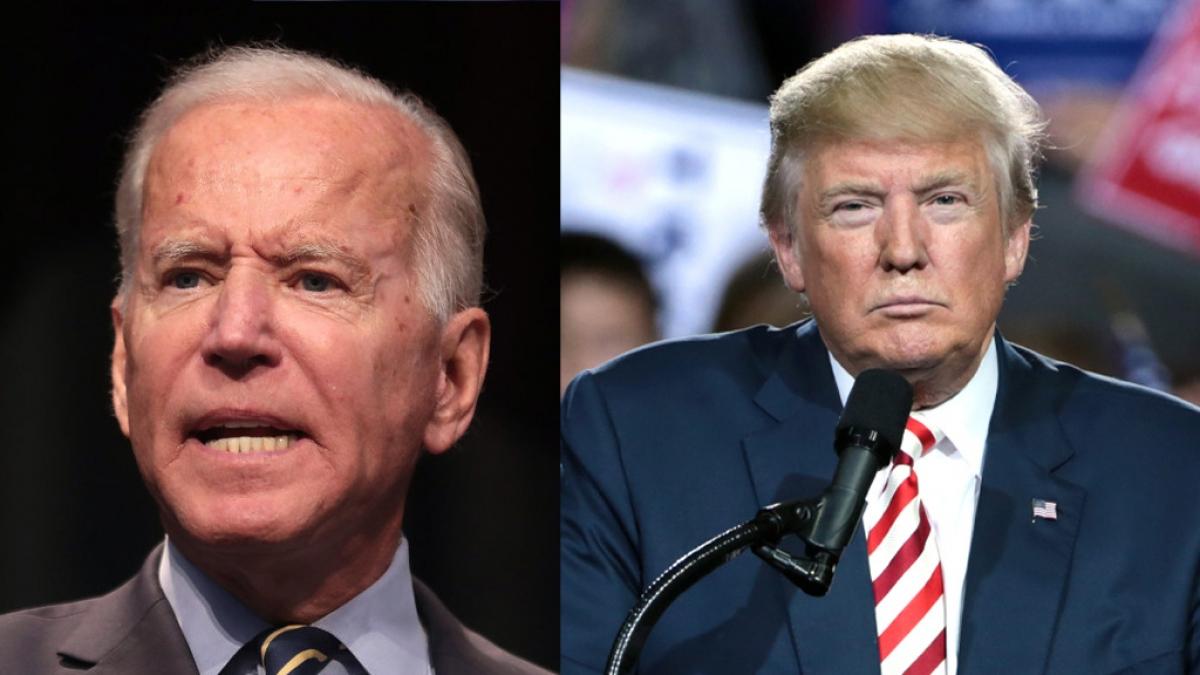 Ứng viên tranh cử Tổng thống đảng Dân chủ Joe Biden và Tổng thống Mỹ Donald Trump. Ảnh: Reuters