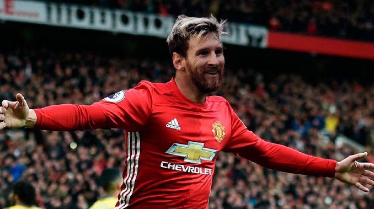 """Bom tấn Messi và điệp khúc """"đang trên máy bay, cập bến MU trong 48 giờ tới""""..."""