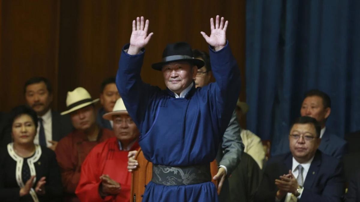 Tổng thống Mông Cổ Khaltmaa Battulga. Ảnh: AFP