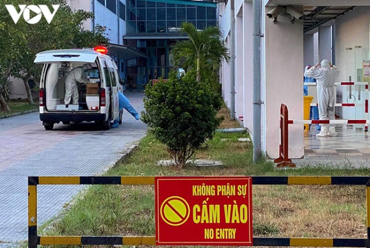 Khu vực điều trị bệnh nhân mắc Covid-19 Bệnh viện Trung ương Huế cơ sở 2.