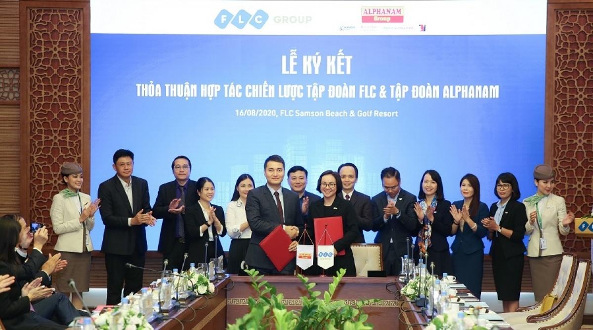 Tập đoàn FLC và Tập đoàn Alphanam ký thoả thuận hợp tác chiến lược