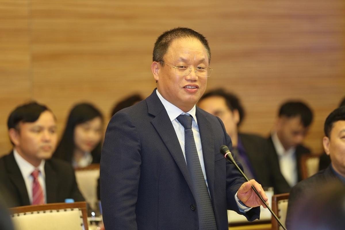 Ông Nguyễn Cảnh Hồng – Chủ tịch Câu lạc bộ Doanh nhân Sao Đỏ - Tổng Giám đốc Công ty Cổ phần Eurowindow phát biểu tại sự kiện