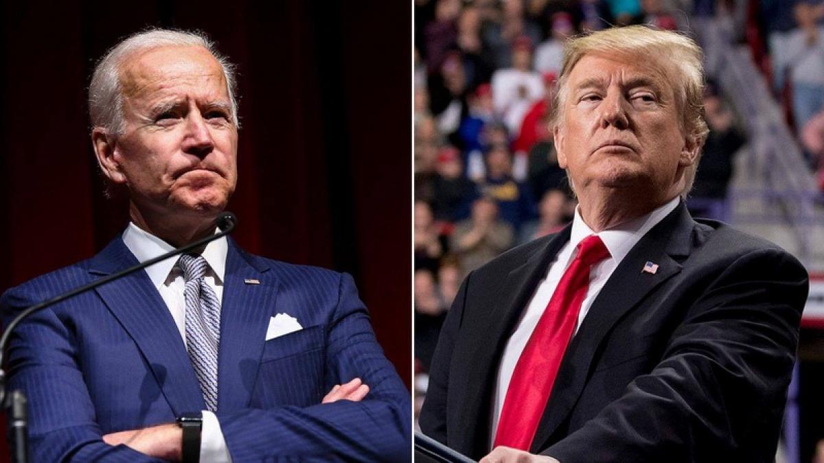 Ứng viên đảng Dân chủ Joe Biden (trái) và Tổng thống Donald Trump (phải). Ảnh: AP.