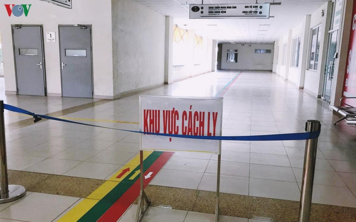 Khu vực cách ly tại Bệnh viện Bệnh nhiệt đới Trung ương (Kim Chung, Hà Nội).