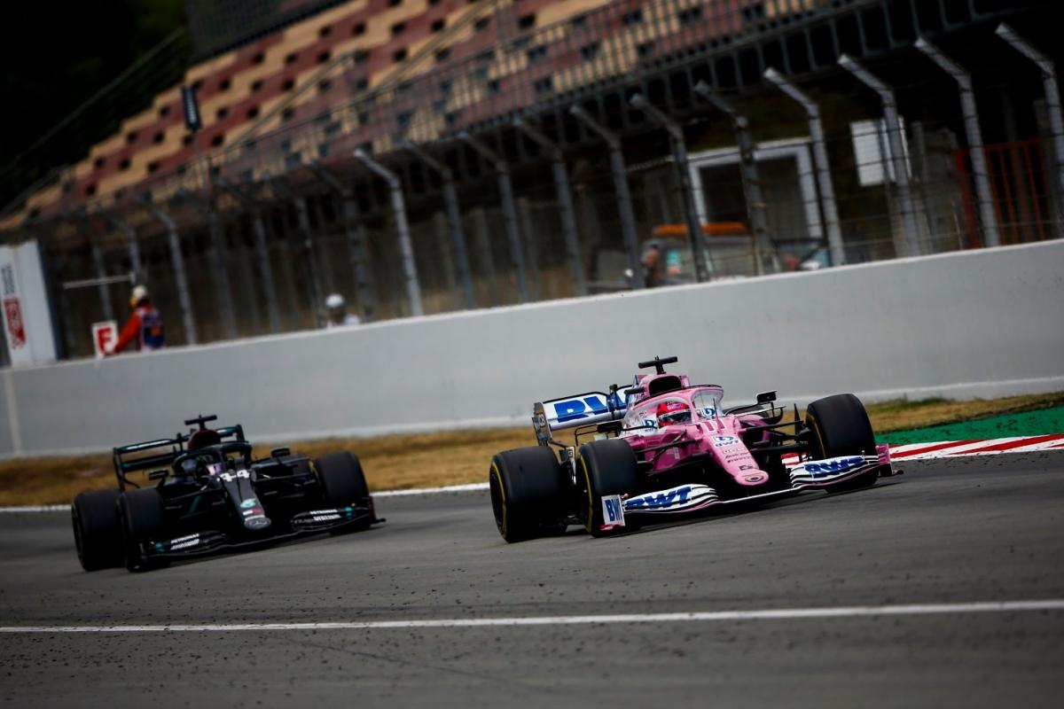 Racing Point (hồng) có một chặng đua bứt phá tại Circuit de Barcelona-Catalunya.