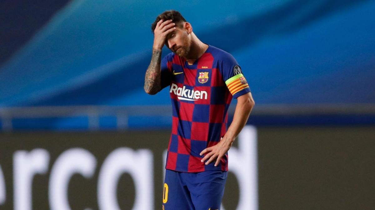 Lionel Messi đã trải qua đêm ác mộng ở Lisbon khi Barca thua tan nát 2-8 dưới tay Bayern Munich.