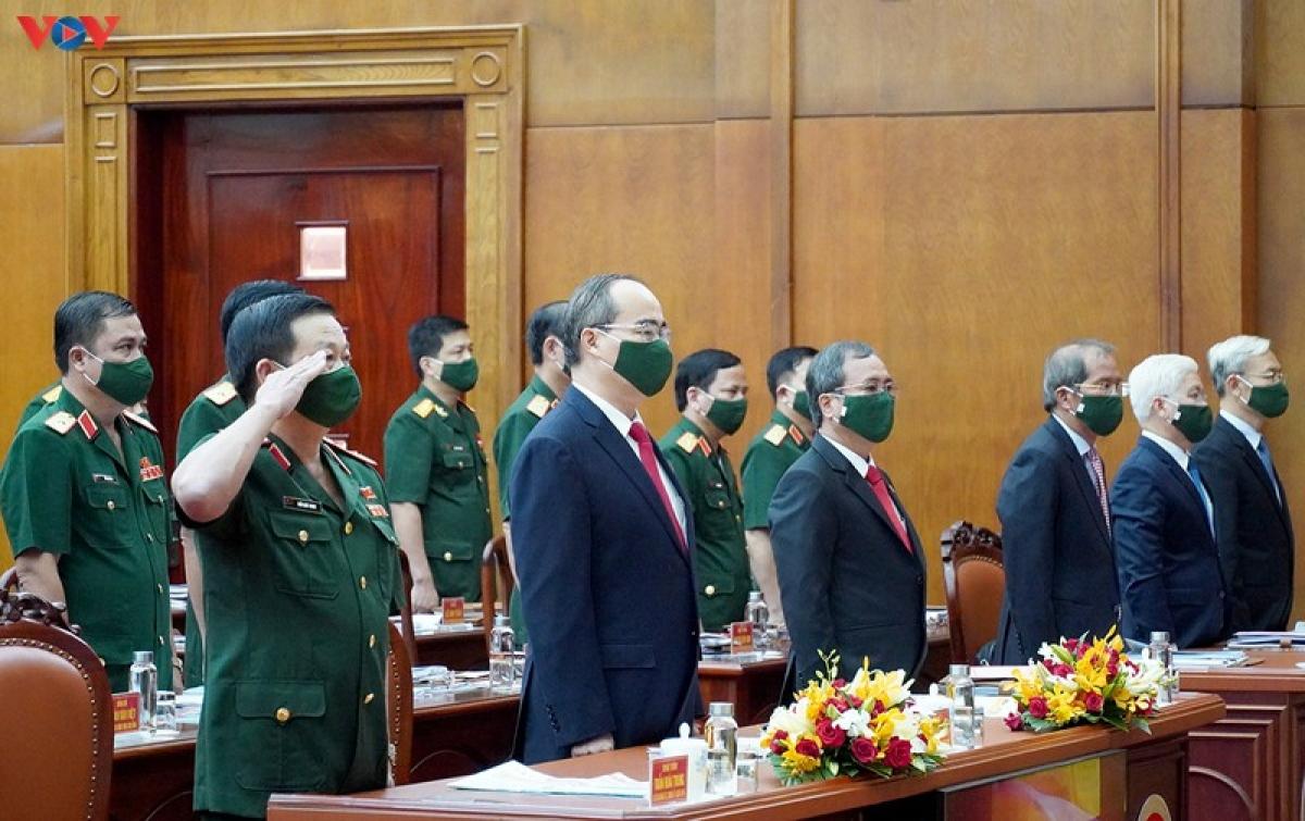 Tham dự Đại hội có Bí thư Thành uỷ TPHCM Nguyễn Thiện Nhân, lãnh đạo Bộ Quốc phòng, các tỉnh thành trên địa bàn quân khu