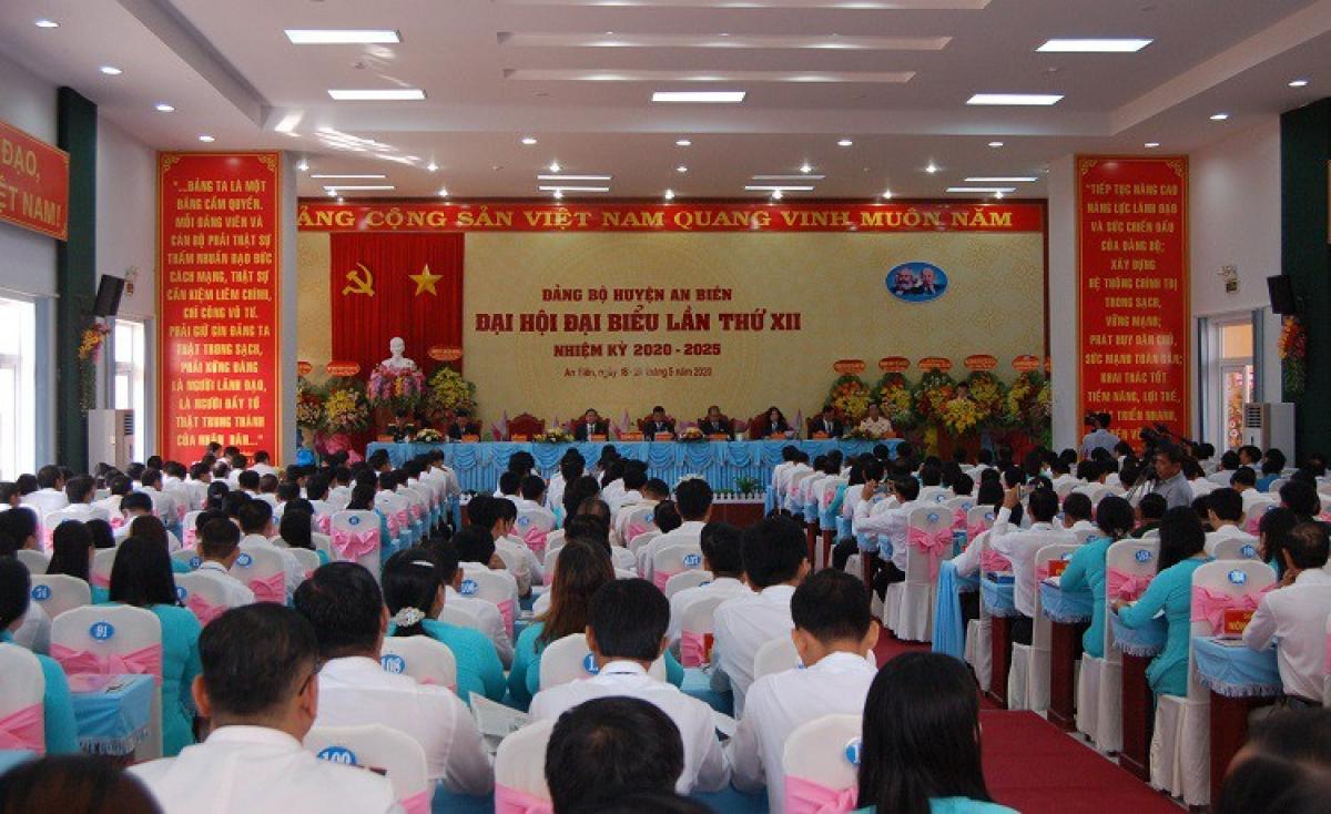 Đại hội đại biểu Đảng bộ huyện An Biên, tỉnh Kiên Giang.