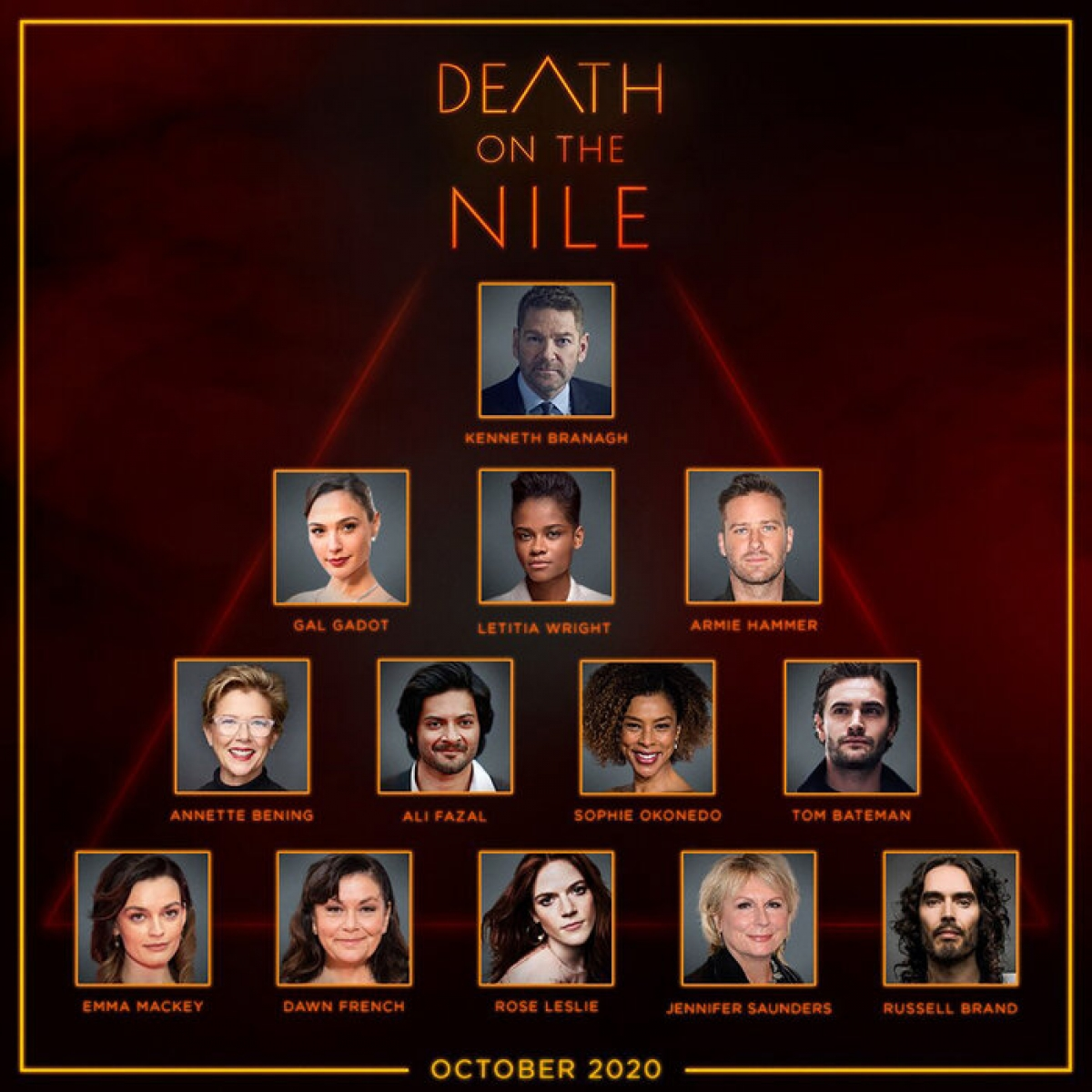 """Dàn diễn viên """"Án mạng trên sông Nile""""."""