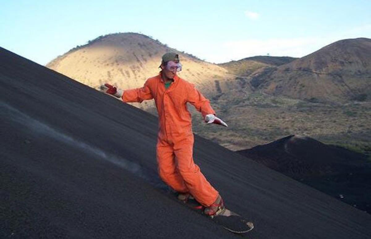 Trượt ván trên sườn núi lửa, Nicaragua