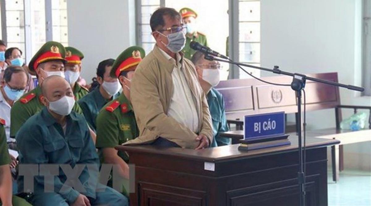 Bị cáo Đỗ Ngọc Điệp, nguyên Chủ tịch UBND thành phố Phan Thiết tại tòa.