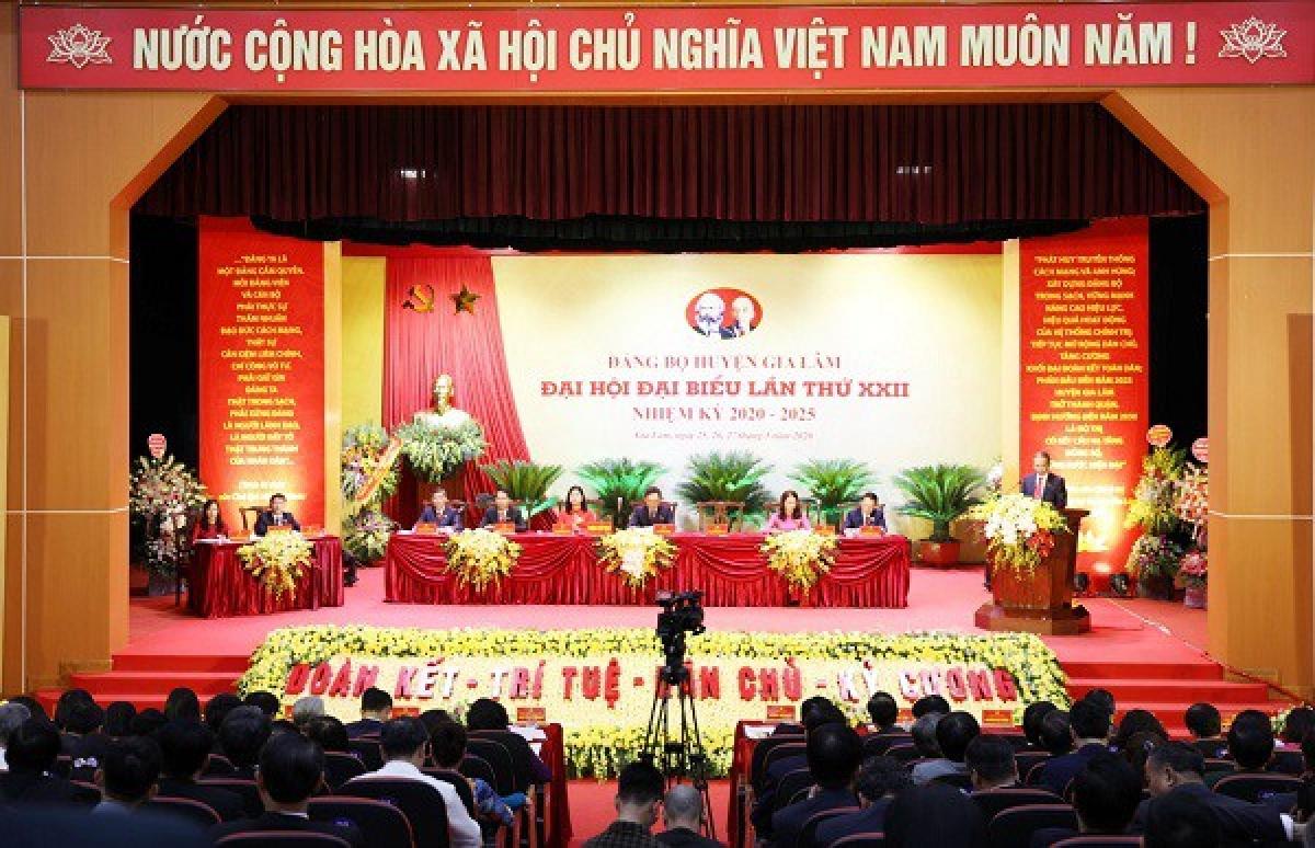 50/50 đảng bộ cấp trên cơ sở của Hà Nội đã hoàn thành đại hội nhiệm kỳ 2020-2025. Ảnh: Tạp chí Xây dựng Đảng