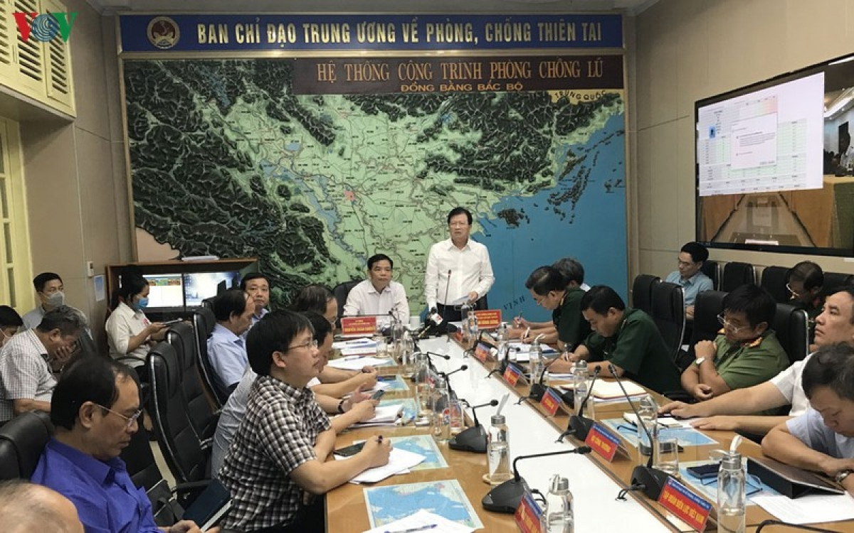Phó Thủ tướng Trịnh Đình Dũng phát biểu chỉ đạo tại cuộc họp.