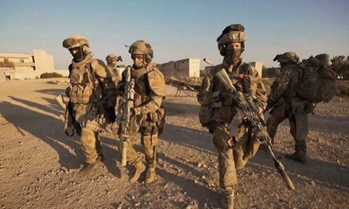 Lực lượng đặc nhiệm Nga hoạt động ở Syria. Ảnh: Almasdar News.