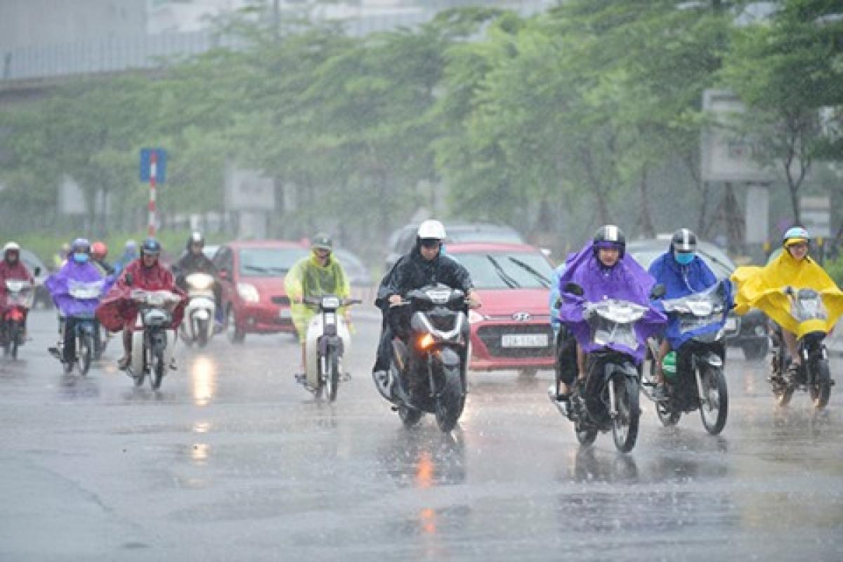 Ngày 14/8, 3 miền tiếp tục nhiều mây, có mưa dào và dông rải rác. (Ảnh minh họa: KT)