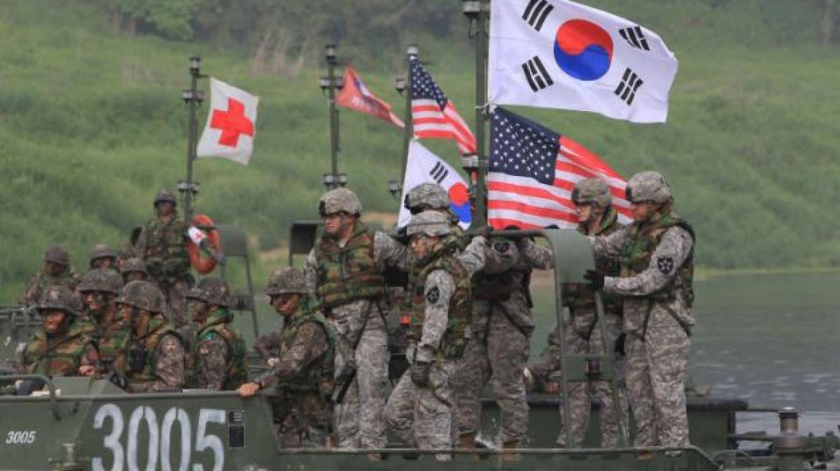 Một cuộc tập trận chung giữa Mỹ và Hàn Quốc. (Ảnh: Getty)