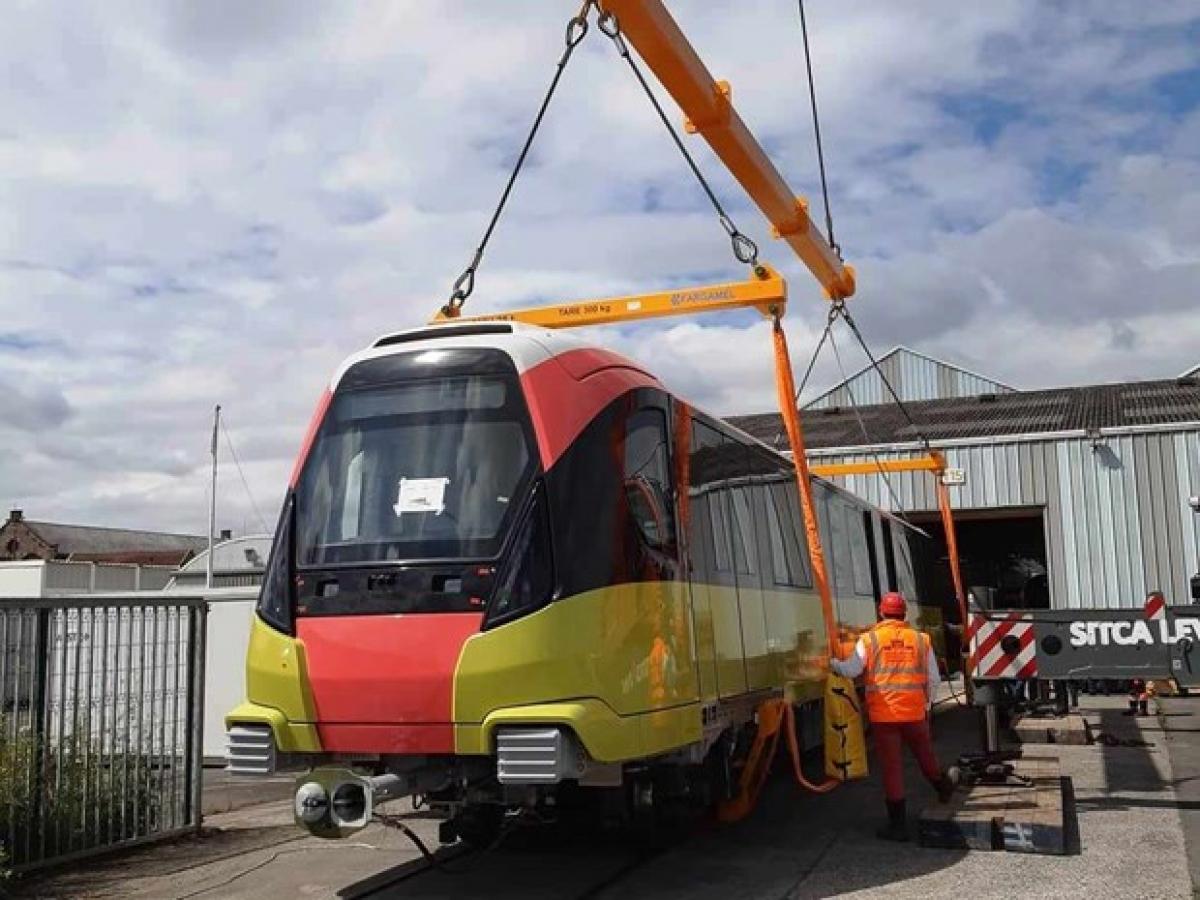 Đoàn tàu đường sắt đô thị Nhổn-ga Hà Nội dự kiến cuối năm 2020 sẽ được đưa từ Pháp về Việt Nam.