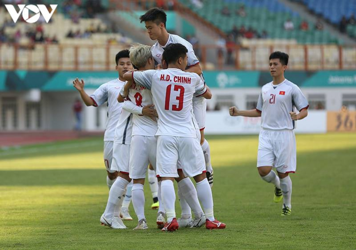 Ngày này 2 năm trước, Olympic Việt Nam có chiến thắng lịch sử trước Olympic Nhật Bản. (Ảnh: Ngọc Duy).