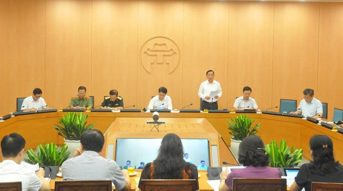 Giám đốc Sở Y tế Hà Nội thông tin tình dịch Covd-19 trên địa bàn Hà Nội.