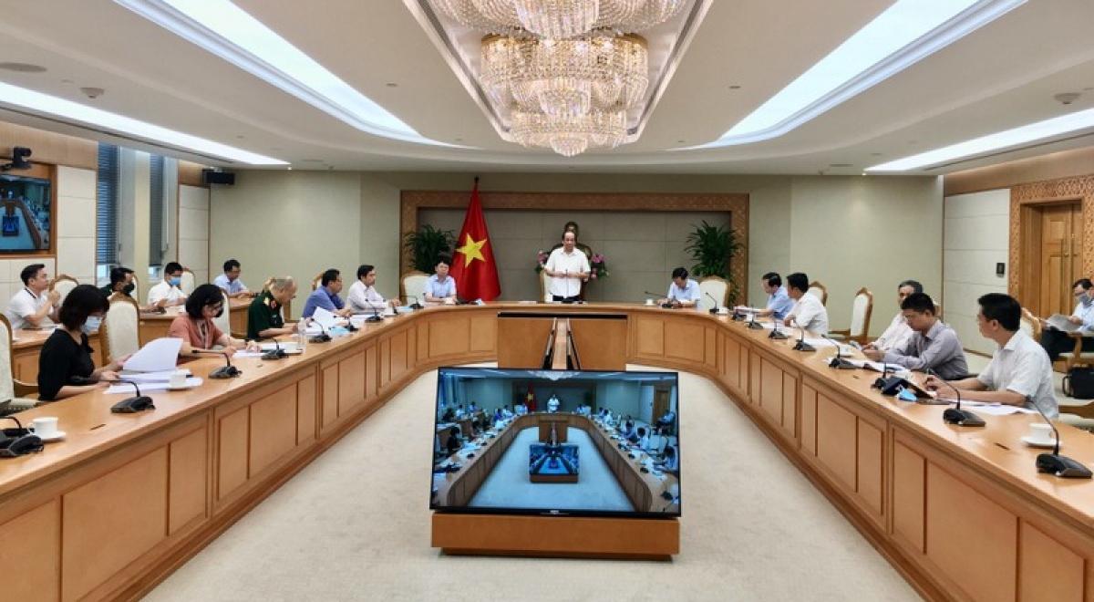 Toàn cảnh phiên họp. Ảnh: Quang Thương/VGP
