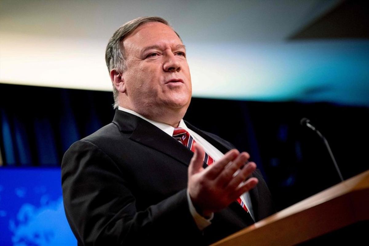 Ngoại trưởng Mỹ Mike Pompeo hối thúc gia hạn lệnh cấm vận vũ khí với Iran. Ảnh: AFP.