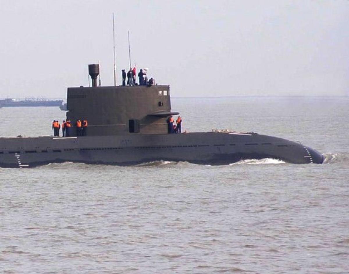 Một tàu ngầm của Trung Quốc (Nguồn: Sina)