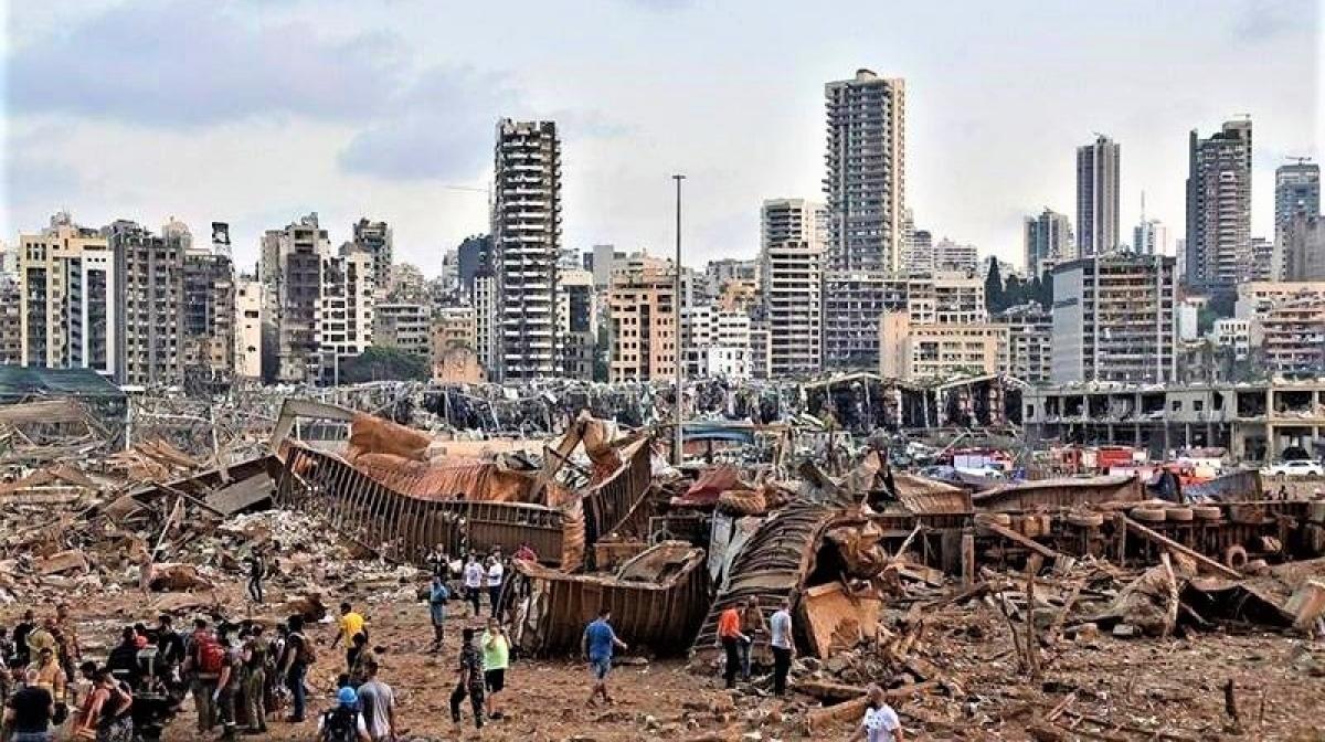 Hiện trường vụ nổ cảng Beirut ngày 4/8/2020; Nguồn: topwar.ru