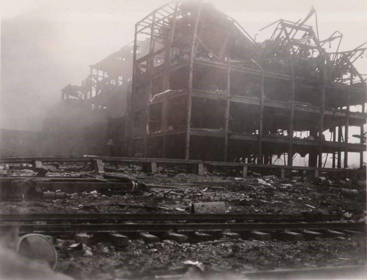 Hiện trường vụ nổ cảng thuộc thành phố Texas ngày 16/4/1947; Nguồn: topwar.ru