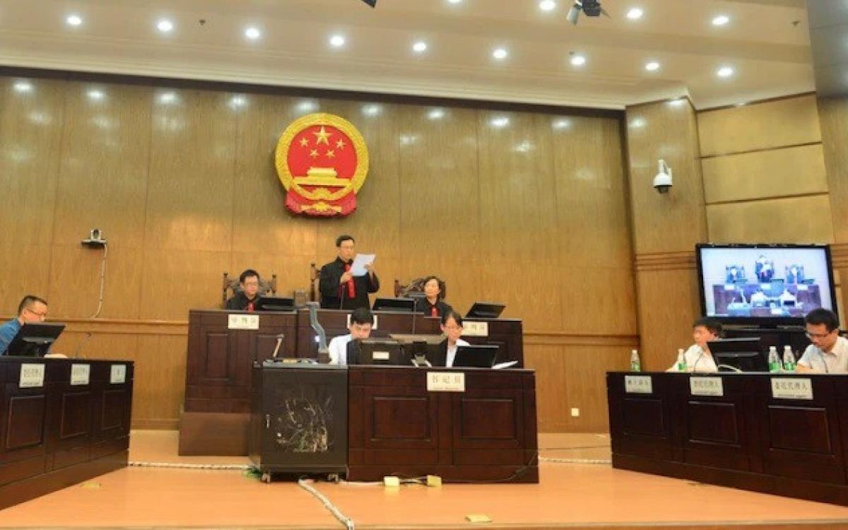 Một phiên tòa tại Trung Quốc. Ảnh: Foreign Policy.