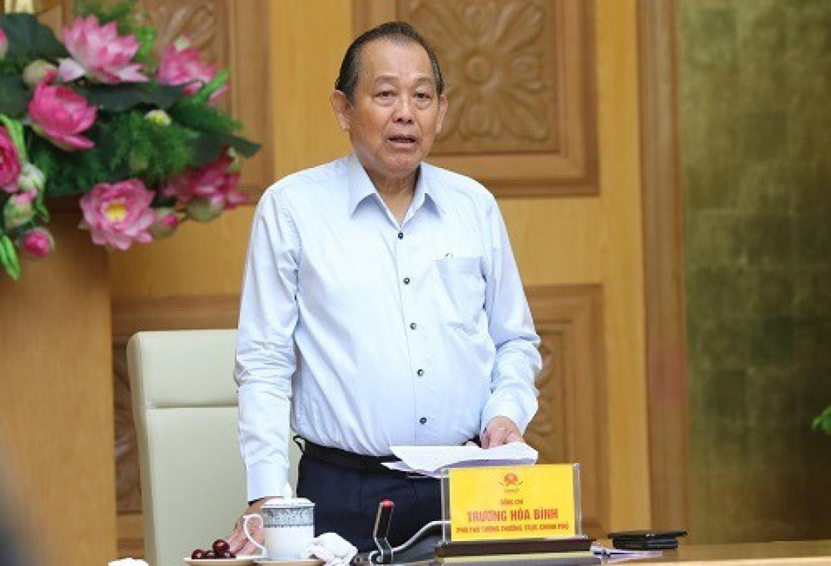 Phó Thủ tướng Thường trực Trương Hoà Bình (Ảnh: VGP)