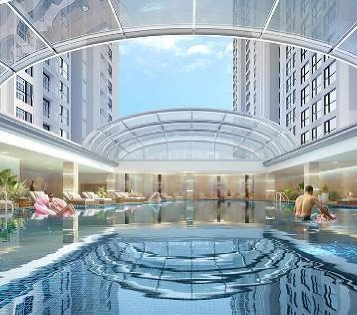 Bể bơi bốn mùa sang trọng, đẳng cấp không kém khách sạn 5 sao