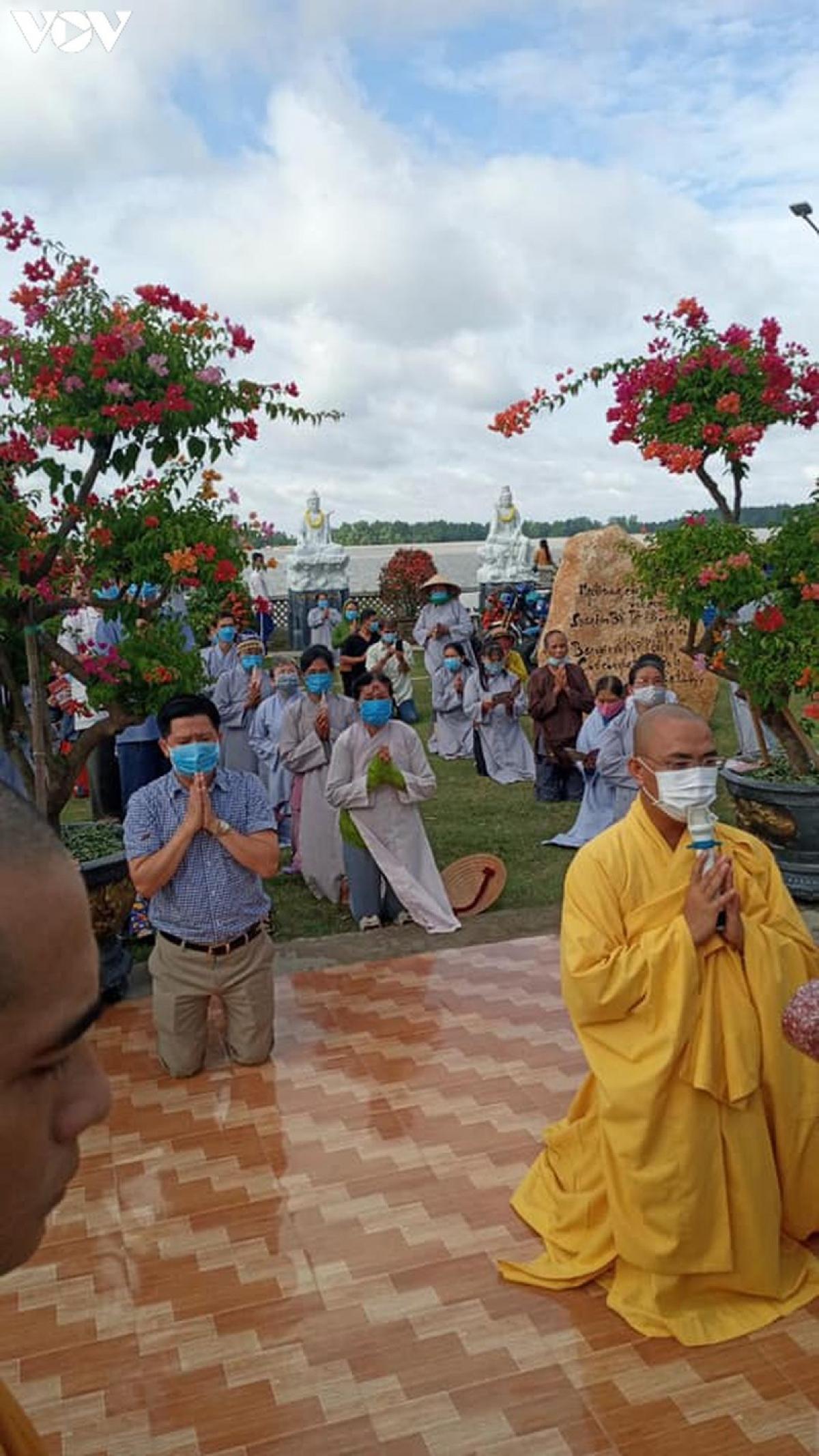 Hiện nay, các chùa, tự viện trên địa bàn tỉnh Tiền Giang đều chấp hành tốt các quy định về phòng chống dịch Covid-19.